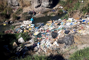 Litter and Waste in the Hennops River in Centurion