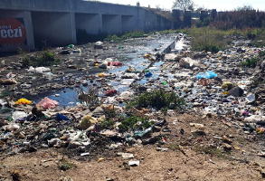 Plastic waste and pollution causing a sore eye on the Hennops River