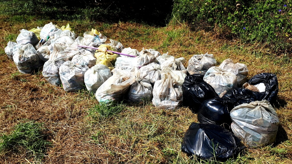 Many bags were filled with litter that came out of the Hennops River